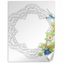 Scrapbook Element Lace Embroidery Canvas 12  x 16