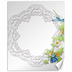 Scrapbook Element Lace Embroidery Canvas 16  x 20