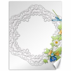 Scrapbook Element Lace Embroidery Canvas 18  x 24