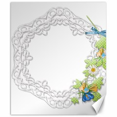 Scrapbook Element Lace Embroidery Canvas 20  x 24