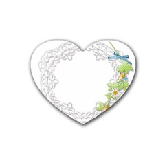 Scrapbook Element Lace Embroidery Heart Coaster (4 Pack)