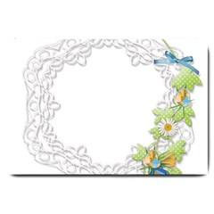 Scrapbook Element Lace Embroidery Large Doormat