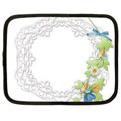 Scrapbook Element Lace Embroidery Netbook Case (Large)