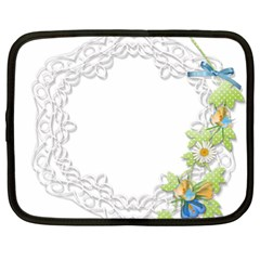 Scrapbook Element Lace Embroidery Netbook Case (xxl)