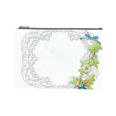 Scrapbook Element Lace Embroidery Cosmetic Bag (large)
