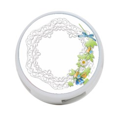 Scrapbook Element Lace Embroidery 4-Port USB Hub (Two Sides)
