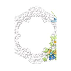 Scrapbook Element Lace Embroidery Shower Curtain 48  x 72  (Small)