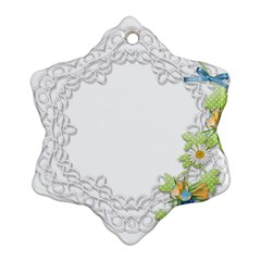 Scrapbook Element Lace Embroidery Ornament (snowflake)