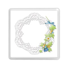 Scrapbook Element Lace Embroidery Memory Card Reader (Square)