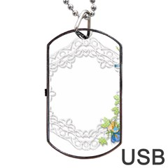 Scrapbook Element Lace Embroidery Dog Tag Usb Flash (one Side)