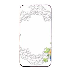 Scrapbook Element Lace Embroidery Apple Iphone 4/4s Seamless Case (black)
