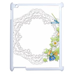 Scrapbook Element Lace Embroidery Apple Ipad 2 Case (white)