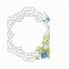 Scrapbook Element Lace Embroidery Small Garden Flag (two Sides)