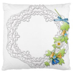 Scrapbook Element Lace Embroidery Large Cushion Case (One Side)