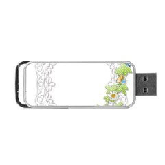 Scrapbook Element Lace Embroidery Portable USB Flash (One Side)