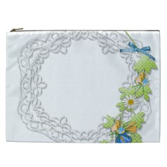 Scrapbook Element Lace Embroidery Cosmetic Bag (XXL)