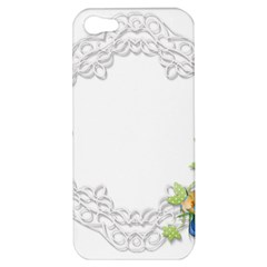 Scrapbook Element Lace Embroidery Apple Iphone 5 Hardshell Case