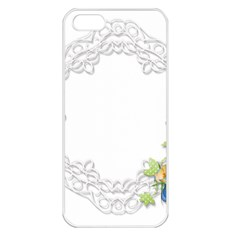 Scrapbook Element Lace Embroidery Apple iPhone 5 Seamless Case (White)
