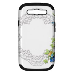 Scrapbook Element Lace Embroidery Samsung Galaxy S Iii Hardshell Case (pc+silicone)