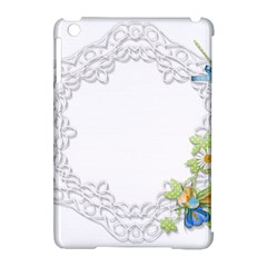 Scrapbook Element Lace Embroidery Apple iPad Mini Hardshell Case (Compatible with Smart Cover)