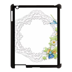 Scrapbook Element Lace Embroidery Apple Ipad 3/4 Case (black)