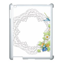 Scrapbook Element Lace Embroidery Apple Ipad 3/4 Case (white)