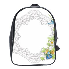 Scrapbook Element Lace Embroidery School Bags (XL)