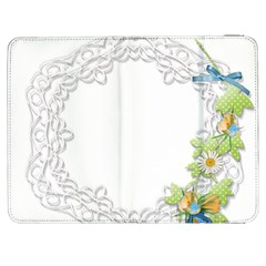 Scrapbook Element Lace Embroidery Samsung Galaxy Tab 7  P1000 Flip Case