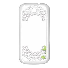 Scrapbook Element Lace Embroidery Samsung Galaxy S3 Back Case (white)