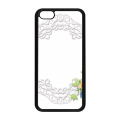 Scrapbook Element Lace Embroidery Apple Iphone 5c Seamless Case (black)