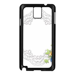 Scrapbook Element Lace Embroidery Samsung Galaxy Note 3 N9005 Case (black)