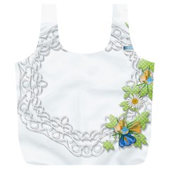 Scrapbook Element Lace Embroidery Full Print Recycle Bags (l)