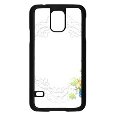 Scrapbook Element Lace Embroidery Samsung Galaxy S5 Case (black)