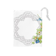 Scrapbook Element Lace Embroidery Drawstring Pouches (medium)