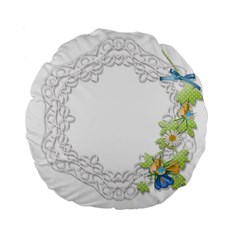 Scrapbook Element Lace Embroidery Standard 15  Premium Flano Round Cushions