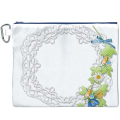 Scrapbook Element Lace Embroidery Canvas Cosmetic Bag (xxxl)