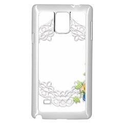 Scrapbook Element Lace Embroidery Samsung Galaxy Note 4 Case (white)