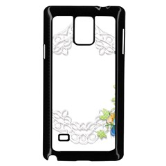 Scrapbook Element Lace Embroidery Samsung Galaxy Note 4 Case (black)