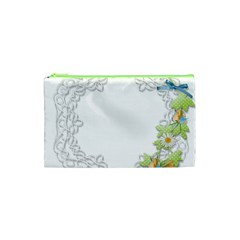 Scrapbook Element Lace Embroidery Cosmetic Bag (xs)