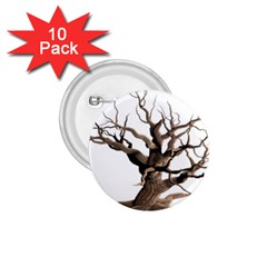 Tree Isolated Dead Plant Weathered 1 75  Buttons (10 Pack)