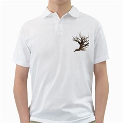 Tree Isolated Dead Plant Weathered Golf Shirts