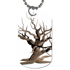 Tree Isolated Dead Plant Weathered Dog Tag (Two Sides)