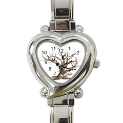 Tree Isolated Dead Plant Weathered Heart Italian Charm Watch