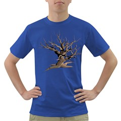 Tree Isolated Dead Plant Weathered Dark T Shirt