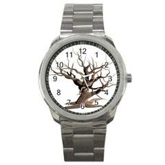 Tree Isolated Dead Plant Weathered Sport Metal Watch