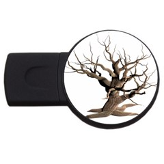 Tree Isolated Dead Plant Weathered Usb Flash Drive Round (4 Gb)