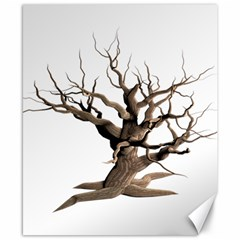 Tree Isolated Dead Plant Weathered Canvas 8  X 10