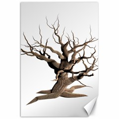 Tree Isolated Dead Plant Weathered Canvas 20  x 30