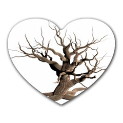 Tree Isolated Dead Plant Weathered Heart Mousepads