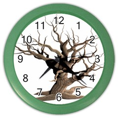 Tree Isolated Dead Plant Weathered Color Wall Clocks